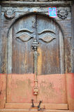 Porta no quadrado de Hanuman Dhoka Basantapur Durbar em Kathmandu Imagens de Stock Royalty Free