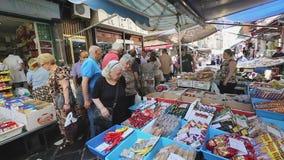 Porta Nolana Market stock video