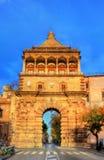 Porta Nuova, μια μνημειακή πύλη πόλεων του Παλέρμου Ιταλία Σικελία Στοκ Φωτογραφία
