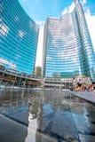 Porta Nuova affärsområde i Milan Arkivbilder