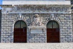 Porta Nuova forntida port av Lanternaen Royaltyfri Foto