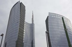Porta Nuova new buildings complex in Milan Royalty Free Stock Image