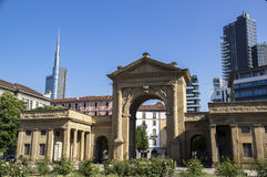 Porta Nuova, porta de Milão foto de stock royalty free