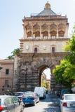 Porta Nuova from via Corso Calatafimi in Palermo stock image