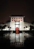 Porta ocidental da parede da cidade de Xian na noite Foto de Stock Royalty Free