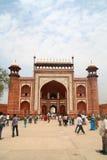 Porta ocidental em Taj Mahal - Índia Foto de Stock