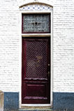 Porta olandese con le mattonelle lustrate Immagine Stock Libera da Diritti