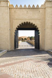 Porta oriental fotografia de stock