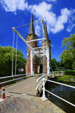 Porta oriental (Oostpoort), louça de Delft Fotografia de Stock
