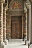Porta ortodoxo da catedral de Timisoara Fotos de Stock
