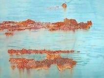 Porta oxidada abstrata do metal Foto de Stock