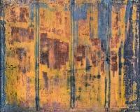 Porta oxidada do metal Imagens de Stock Royalty Free