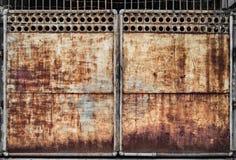 Porta oxidada do metal Fotos de Stock