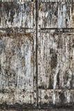 porta oxidada do metal Fotografia de Stock Royalty Free