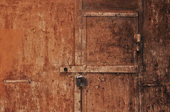 Porta oxidada velha Imagens de Stock