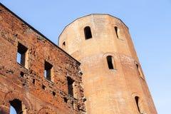 Porta Palatina - башни Palatine в Турине Стоковое Фото