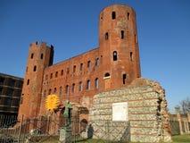 Porta Palatina o il portone del palatino, Roman Gate antico a Torino Fotografia Stock Libera da Diritti