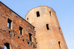 Porta Palatina - Palatine Towers in Turin Stock Photo