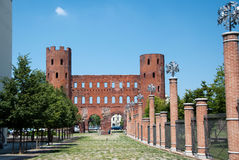 Porta Palatina, Torino, Italia Fotografia Stock Libera da Diritti