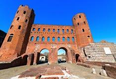Porta Palatina - Torino Italy Stock Photography