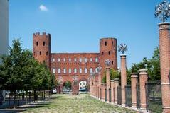 Porta Palatina, Turín, Italia Foto de archivo libre de regalías