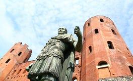 Porta Palatina, Turin, Italie Images stock