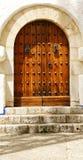 Porta Palau de l'i marzo cel in Sitges Immagini Stock