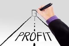 Porta per aumentare profitto Fotografia Stock Libera da Diritti