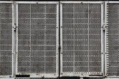 Porta perfurada do metal Imagens de Stock