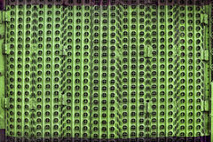 Porta perfurada verde do metal Imagem de Stock Royalty Free