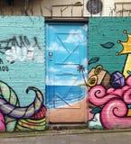Porta pintada funky Foto de Stock Royalty Free