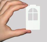 A porta plástica à disposicão. foto de stock