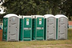 porta potties rząd Zdjęcie Stock