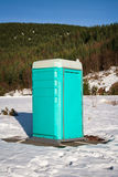 Porta Potty in the Snow Stock Photo