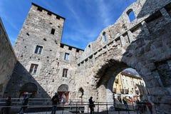 Porta Praetoria - Aosta, ` Aosta de Valle d, Itália Fotos de Stock Royalty Free