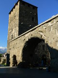 Porta Praetoria, Aosta (Italia) Foto de archivo libre de regalías