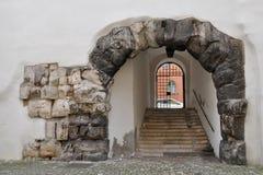 Porta Praetoria, Regensburg, Germania fotografia stock libera da diritti