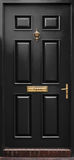 Porta preta clássica isolada Fotografia de Stock Royalty Free