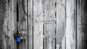 Porta preto e branco de madeira velha no estilo do vintage Fotografia de Stock Royalty Free