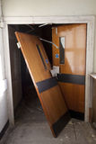 Porta quebrada Fotografia de Stock