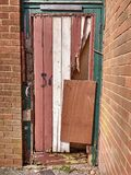 Porta quebrada Fotografia de Stock Royalty Free