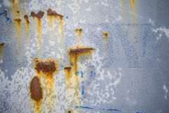 Porta rachada oxidada do metal Fotografia de Stock Royalty Free