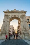 Porta Reale arch in Noto, Sicily, Italy Stock Photography