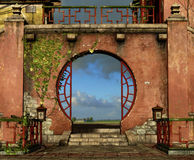 A porta redonda Imagens de Stock