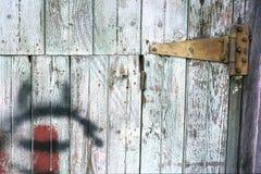 Porta resistida & dobradiça oxidada Fotografia de Stock