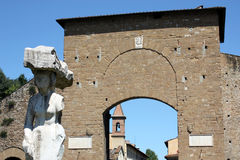 Porta Romana e statua a Firenze n.2 Royalty Free Stock Photography
