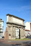 Porta Romana Gate in Milan. A view of Porta Romana arch remains in Milan, Italy Stock Images