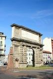 Porta Romana Gate in Milan stock images