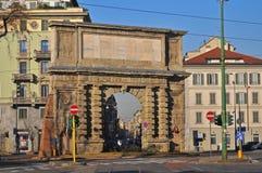 Porta Romana - Oude poort (Milaan - Italië) Royalty-vrije Stock Afbeelding