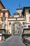 Porta romana. Soriano nel Cimino. Lazio. Italy. Perspective of the Porta romana. Soriano nel Cimino. Lazio. Italy Royalty Free Stock Image
